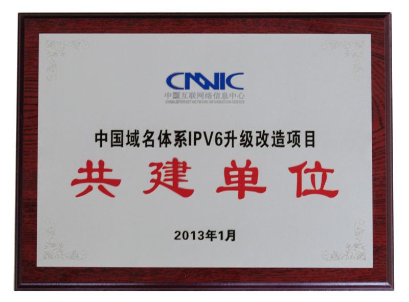 2013年度CNNICIPV6升級改造項目 共建單位